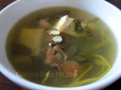 Watercress Tofu Dried Oyster Soup