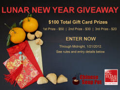 Lunar New Year Gift Card GIVEAWAY - $100 Total Value