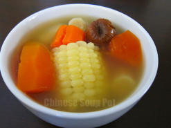 Burdock Papaya Carrot Corn Soup