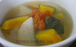 Chinese Yam and Goji Pumpkin Pork Soup