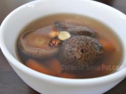 Shiitake Carrot Lotus Seed Soup
