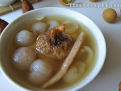 Longan and Dried Figs Pork Soup