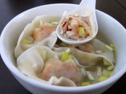 Shrimp Wonton Soup in Supreme Broth