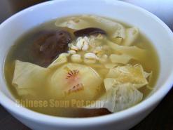Water Chestnut Bean Curd Barley Soup