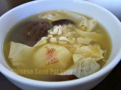Water Chestnut Bean Curd Barley Soup