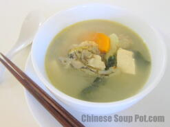 Bok Choy Fish Head Tofu Soup