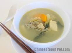 Bok Choy Fish Head Tofu Soup